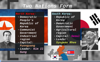 """Prezi Presentation - """"The Korean War"""" with Guided Notes Worksheet"""