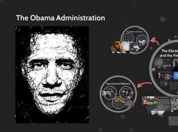 "Prezi Presentation - ""The Obama Administration"" with Guided Notes Worksheet"