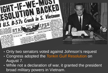 "Prezi Presentation - ""The Vietnam War: Part 1"" w/Guided Notes Worksheet"