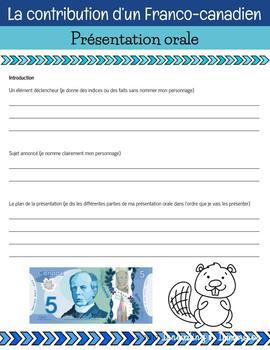 Prezi Project: Famous French Canadian (La contribution d'un Franco-canadien)