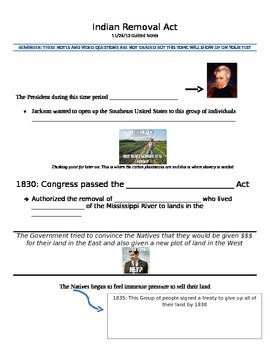 Prezi: Westward Expansion / Indian Removal Act