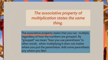 Prezi presentation about the associative property of multiplication