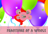 Prezi presentation on creating fractions of a whole