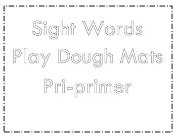 Pri-primer Sight Words Mats