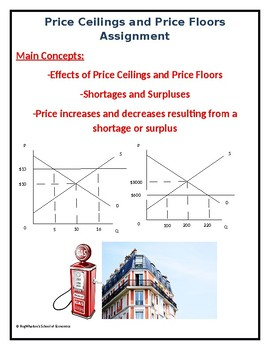 Price Ceilings And Price Floors Assignment W Answer Key