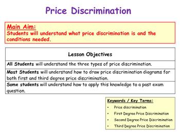 Price Discrimination - First, Second & Third Degree Price Discrimination