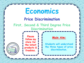 Price Discrimination - First, Second & Third Degree Price