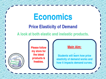 Price Elasticity Of Demand Ped By George Frost Economics