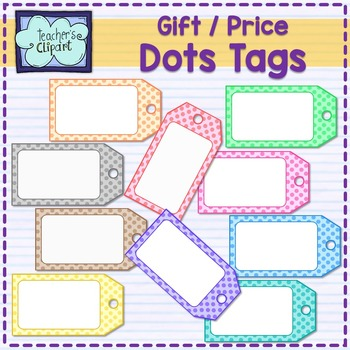 Price / Gift TAGS Clip art {Dots}