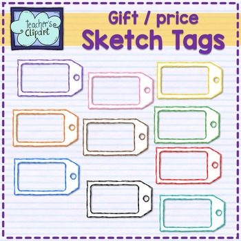 Price / Gift TAGS Clip art {Sketch}