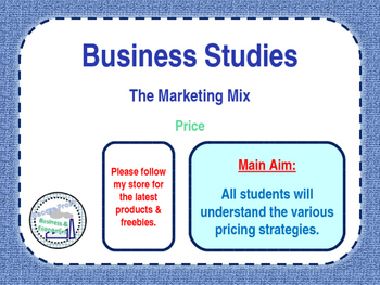 business studies marketing mix Through marketing mix modeling, we use advanced statistical techniques coupled with a deep understanding of your industry and market to measure the performance of your marketing mix the analytic partners approach is customized to address your specific market, your unique brand, and your business challenges.