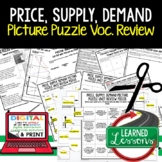Price, Supply, & Demand Picture Puzzle, Test Prep, Unit Review, Study Guide