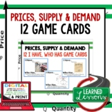 Price, Supply, and Demand GAME CARDS (Economics and Free Enterprise Test Prep)