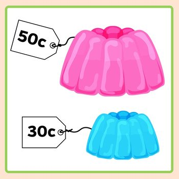 Price Tag Templates - Put Behind Objects for Instant Money Math Clip Art