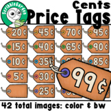 Price Tags Clipart: Cents