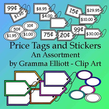 Price Tags and Stickers Clip Art
