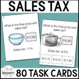 Sales Tax  Task Cards