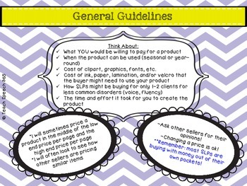 Pricing Guide For SLPs on TPT