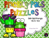 Prickly Pals Diphthong ~aw/~au Puzzle Cards Teacher Appreciation Free