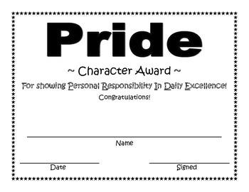Pride Character Award