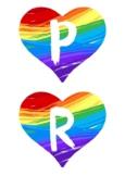 Pride Month Classroom Hearts 2X Designs Pride Words Wall D