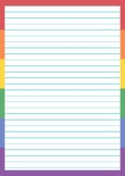 14 Pride Month Pages / Writing Colorful Rainbow Borders LG