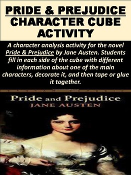 """Pride & Prejudice"" Character Cube Activity"