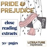 Pride and Prejudice Close Reading Passages