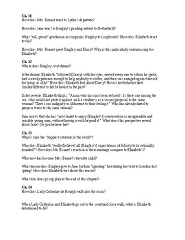 Pride & Prejudice Guided Reading Questions Volume III