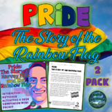Pride: The Story of the Rainbow Flag Interactive Notebook and Test Prep Bundle