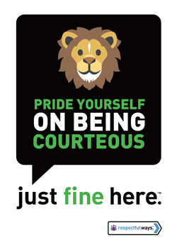 Pride Yourself On Being Courteous