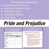 Pride and Prejudice Activities - AP Literature