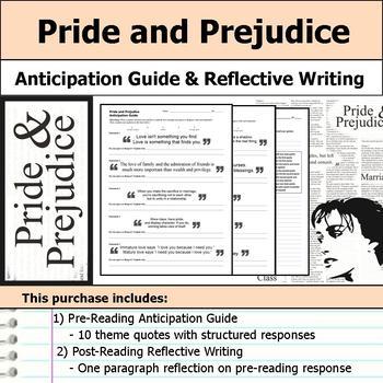 Pride and Prejudice - Anticipation Guide & Written Reflection