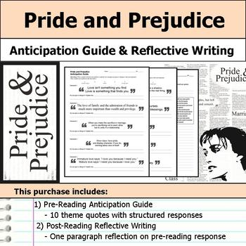 Pride and Prejudice - Anticipation Guide & Written Reflection