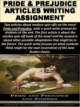 Pride and Prejudice Articles Writing Assignment