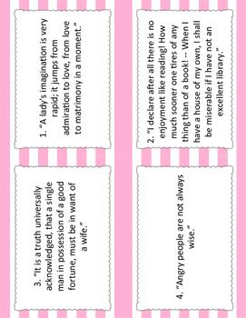 Pride and Prejudice Block Party Cards