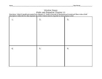 Pride and Prejudice Chapter 10 Window Panes Assignment