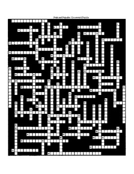 Pride and Prejudice Crossword Puzzle