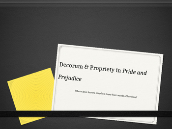 Pride and Prejudice Decorum PPT