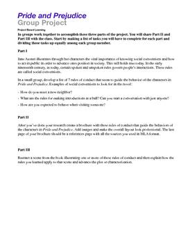 Pride and Prejudice Essay Project