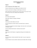 Pride and Prejudice Guided Reading Questions Volume II