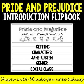 PRIDE AND PREJUDICE Fill-in-the-Blank Notes Flip Book!