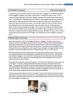 Pride and Prejudice-Jane Austen UPDATED 2019 Teacher Text Guide Worksheets