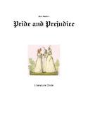 Pride and Prejudice Literature Circle with Common Core Standards