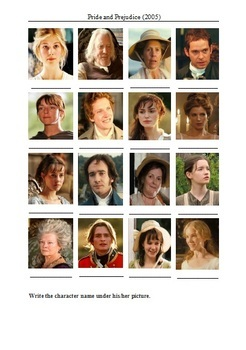 Pride and Prejudice Movie (2005) - Active Learning Tasks Bundle