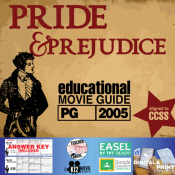 Pride and Prejudice Movie Guide | Questions | Worksheet (PG - 2005)