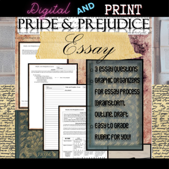 Pride and Prejudice Novel Study: Essay Writing with Rubric