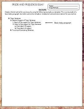 Pride and Prejudice Novel Study: Essay Writing with Rubric
