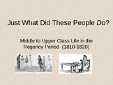 Pride and Prejudice Regency Period Power Point