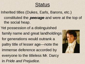 Pride and Prejudice Regency Period Power Point